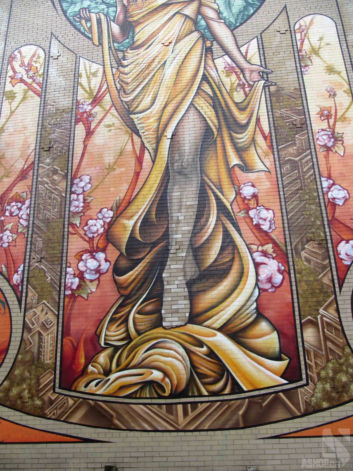 Fine art canvas prints for Art nouveau mural