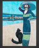 Geza Farago: Slim Woman with a Cat