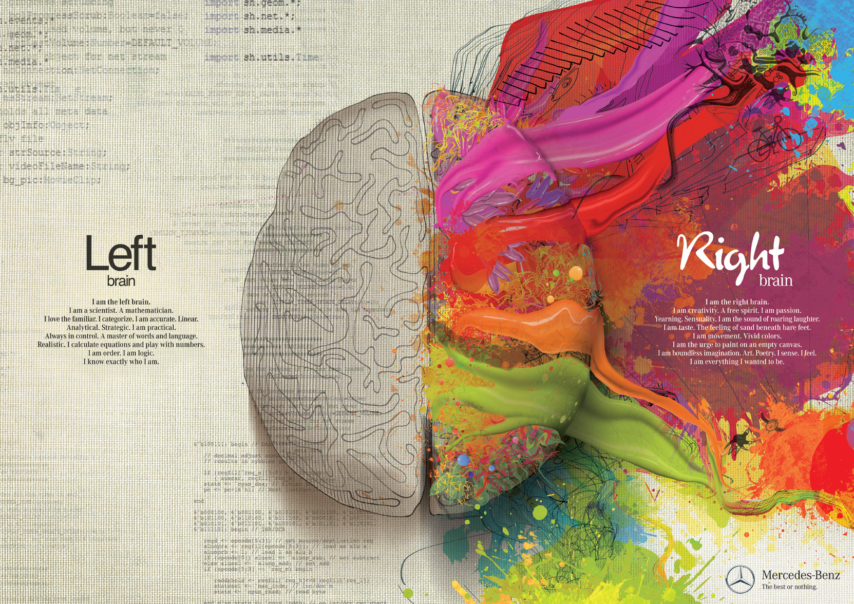 Mercedes Benz: Left Brain - Right Brain Ad