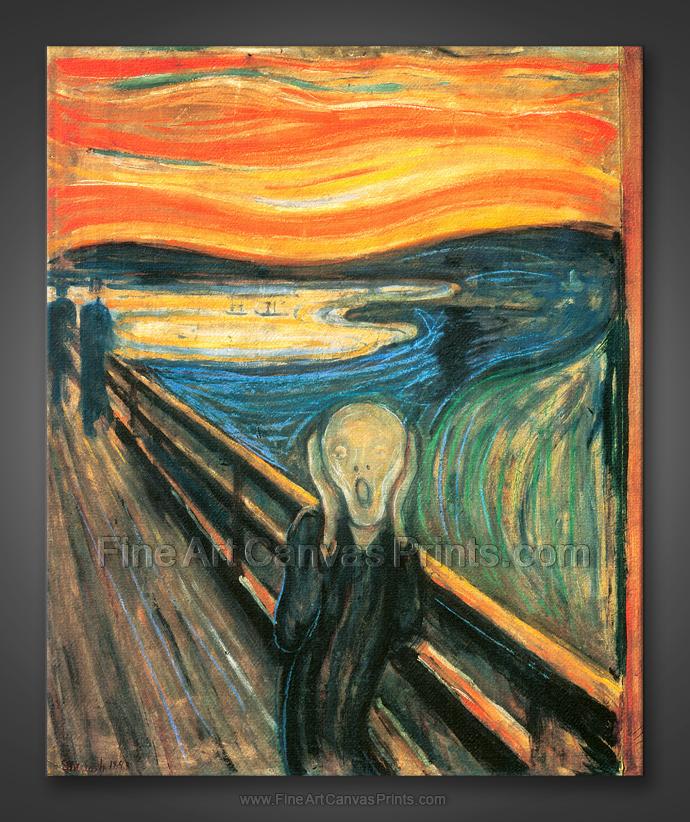 edvard munch the scream The scream (norwegian: skrik created 1893-1910) by edvard munch.