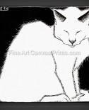 SALE – MC Escher: White Cat I 1919