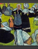 Emile Bernard: Breton Women in the Meadow