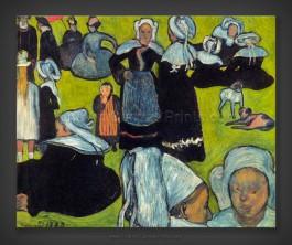 Emile Bernard: Breton Women in the Meadow 1888