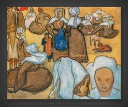 Vincent van Gogh: Breton Women - after Emile Bernard 1888