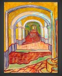 Vincent van Gogh: Corridor in Saint-Paul Hospital Asylum