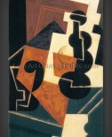 Juan Gris: Glass and Water Bottle