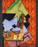Juan Gris: Violin and Playing Cards on a Table