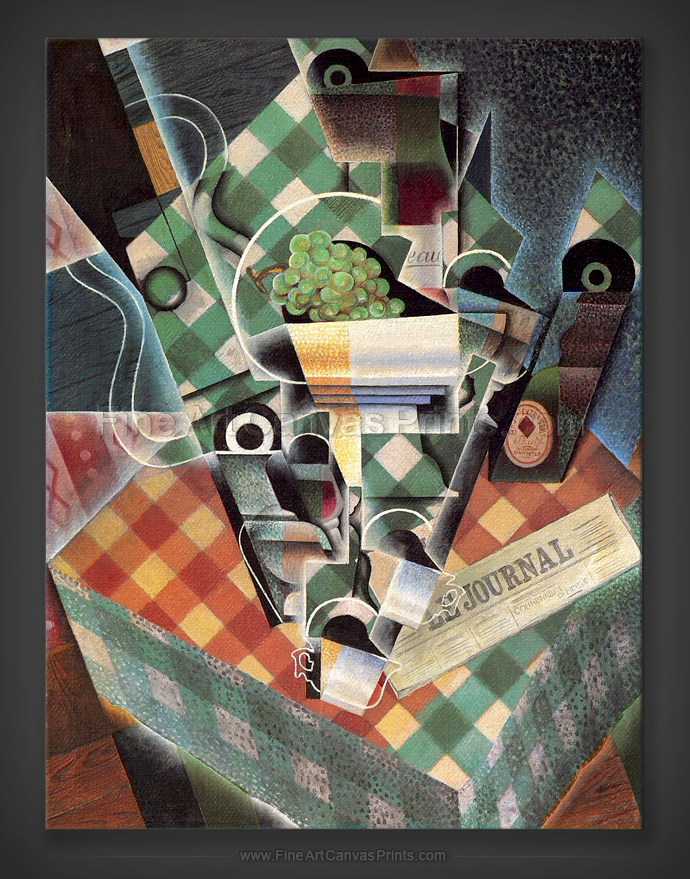 Juan Gris: Still Life with Checked Tablecloth 1915