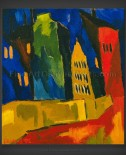 Karl Schmidt-Rottluff: Houses at Night