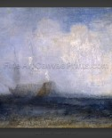 Joseph M.W. Turner: Seascape with a Sailing Boat and a Ship
