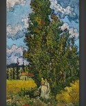 Vincent van Gogh: Cypresses and Two Women