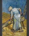 Vincent van Gogh: Peasant Woman Bruising Flax – after Millet