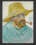 Vincent van Gogh: Self-Portrait with Pipe and Straw Hat I 1887