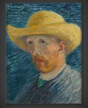 Vincent van Gogh: Self-Portrait with Straw Hat III 1887