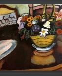 August Macke: Still Life – Deer Pillow with Flowers
