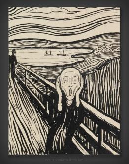 Edvard Munch: The Scream - Lithograph 1895