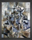 Georges Braque: Violin and Candlestick – blue