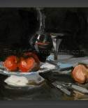Samuel John Peploe: Still Life with Wine Decanter, Glass and Apples
