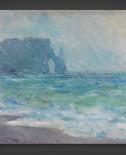 Claude Monet: Regnvaer – Etretat