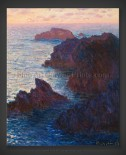 Claude Monet: Rocks at Belle-Ile – Port Domois