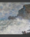 Claude Monet: Rough weather at Etretat