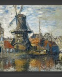 Claude Monet: The Windmill on the Onbekende Gracht
