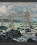 Claude Monet: Fishing nets at Pourville