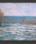 Claude Monet: Ice breaking up on the Seine near Bennecourt