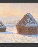 Claude Monet: Wheatstacks – Snow Effect – Morning 1891