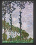 Claude Monet: Wind Effect – Series of The Poplars 1891