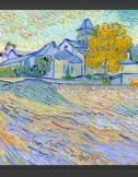 Vincent van Gogh: View of the Church of Saint-Paul-de-Mausole