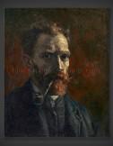 Vincent van Gogh: Self-Portrait with Pipe 1886