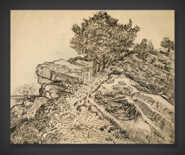 Vincent van Gogh: The Rock of Montmajour with Pine Trees