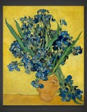 Vincent van Gogh: Vase with Iris against a Yellow Background